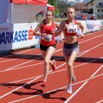 Michelle und Alessia in ihren Rennen