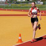 Céline auf ihrer 800 m Strecke