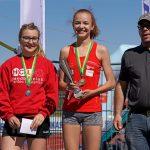 Alessia als Siegerin im W U18 Rennen