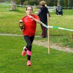 Alexandra als Zweite Staffelläuferin