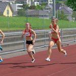 100 m mit Ramona, Larissa, Dominique und Andrea