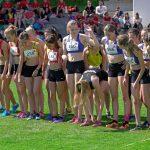 Die Mädchen vor dem Startschuss