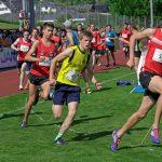 1000 m lauf ist gestartet mit Daniel und Dario