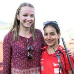 Nadine und Samira nach gelungenem Rennen