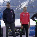 Die Athleten; Kevin, Jeremy, Dominique und Alysbeth