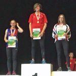 Eva Siegerin im Dreikampf der W U16 Athletinnen