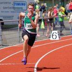 Daniel nach dem Startschuss über 400 m
