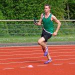 Daniel nach dem Start im Staffellauf über 400 m