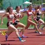 Dominique über 100 m Hürden