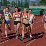 Sandra nach dem Start 800 m