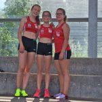 3 x 1000 m W U16: Céline, Alexandra und Sina