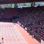 Das Stadion am Sonntag