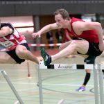 Marc in seinem schnellen 60 m Hürdenlauf