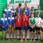 Daniel als 3ter mit der Mannschaft St. Gallen über 400 m (Rechts)