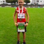 Janis Beuggert mit der Silbermedaille