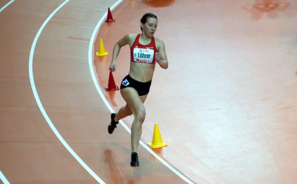 Sandra im Rennen über 800 m