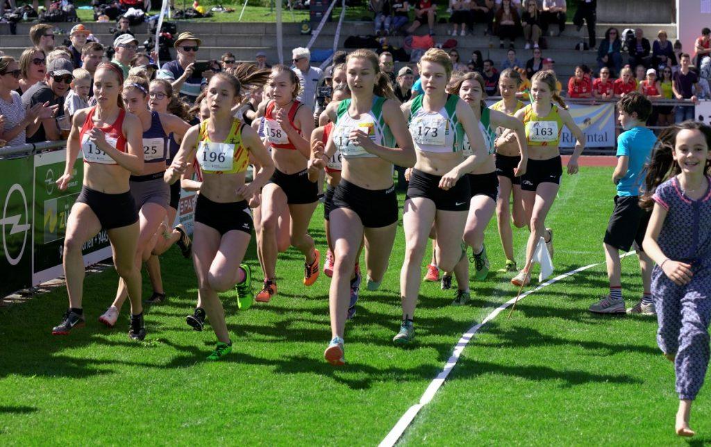 600 m Start der Damen