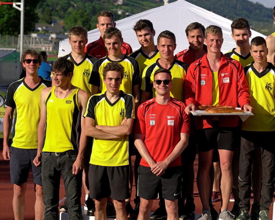Die Männer der TV Oberriet Mannschaft als Zweite