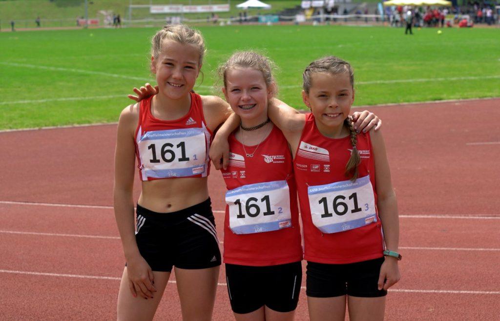 Jana, Melissa und Stella vor ihrem Start