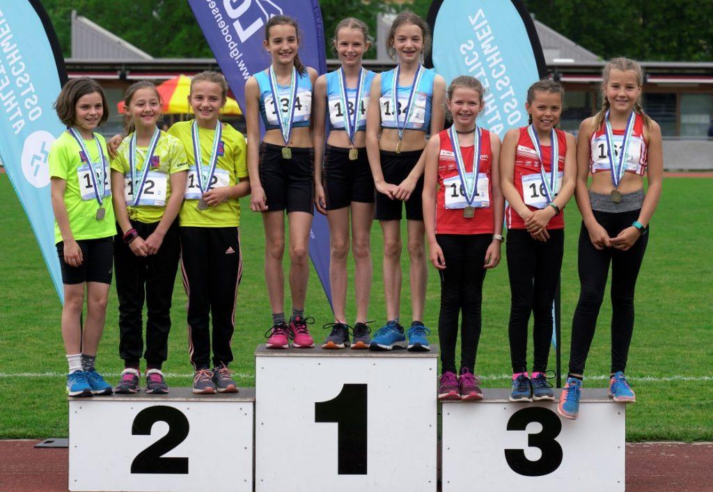 Die drei stolzen Bronzegewinnerinnen