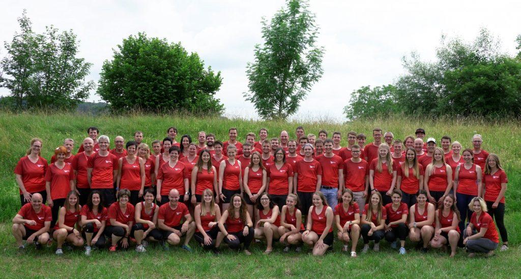 Gruppenbild aller STV Oberriet- Eichenwies Teilnehmer