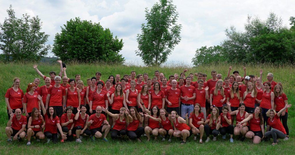 Spassbild: Gruppenbild aller STV Oberriet- Eichenwies Teilnehmer