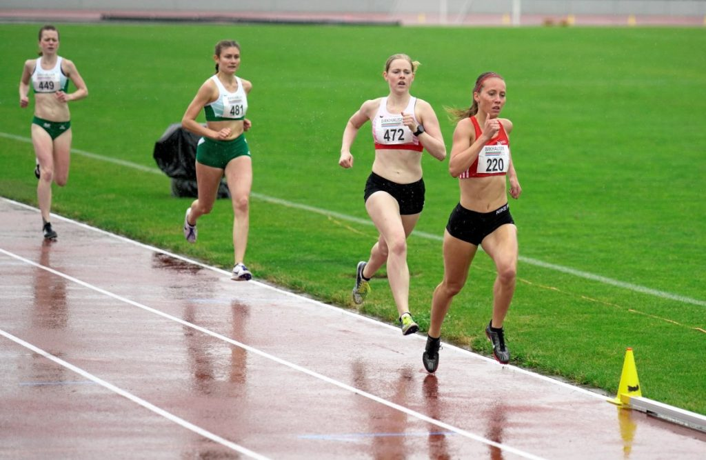 Sandra 200 m vor dem Ziel in Basel