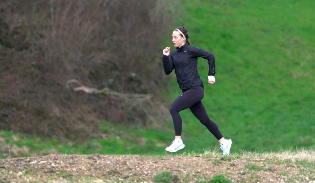 Sandra beim Einlaufen