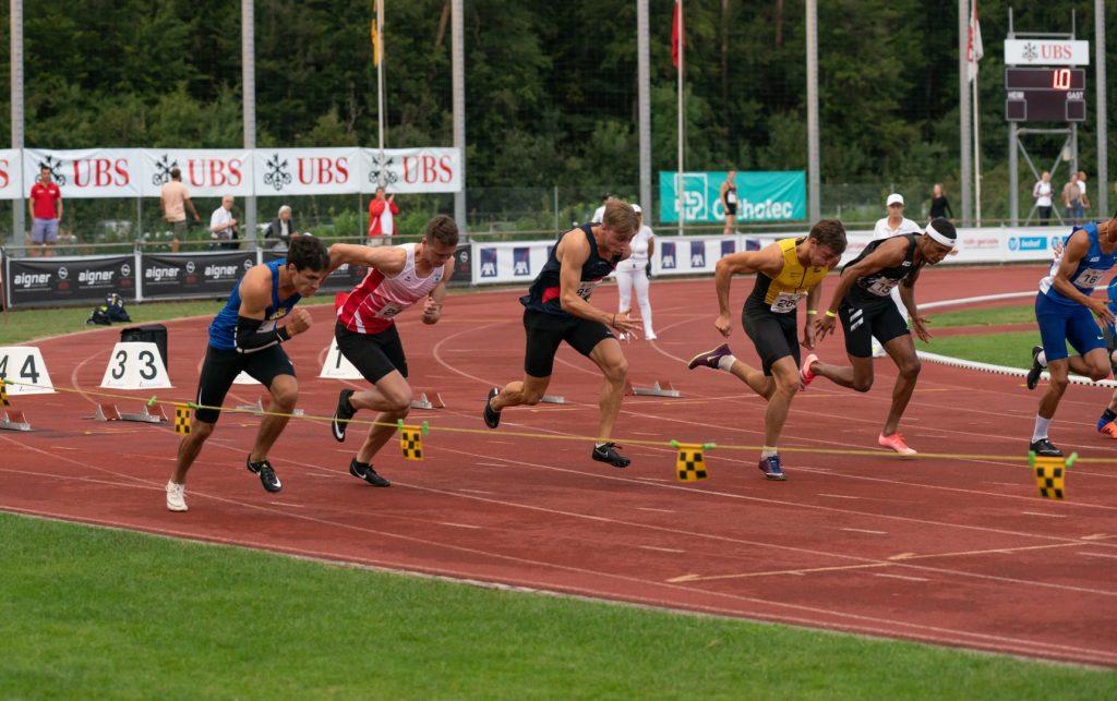 Start Final Lauf 100 m