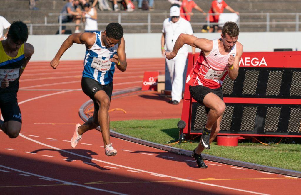 Daniel im Vorlauf über 100 m