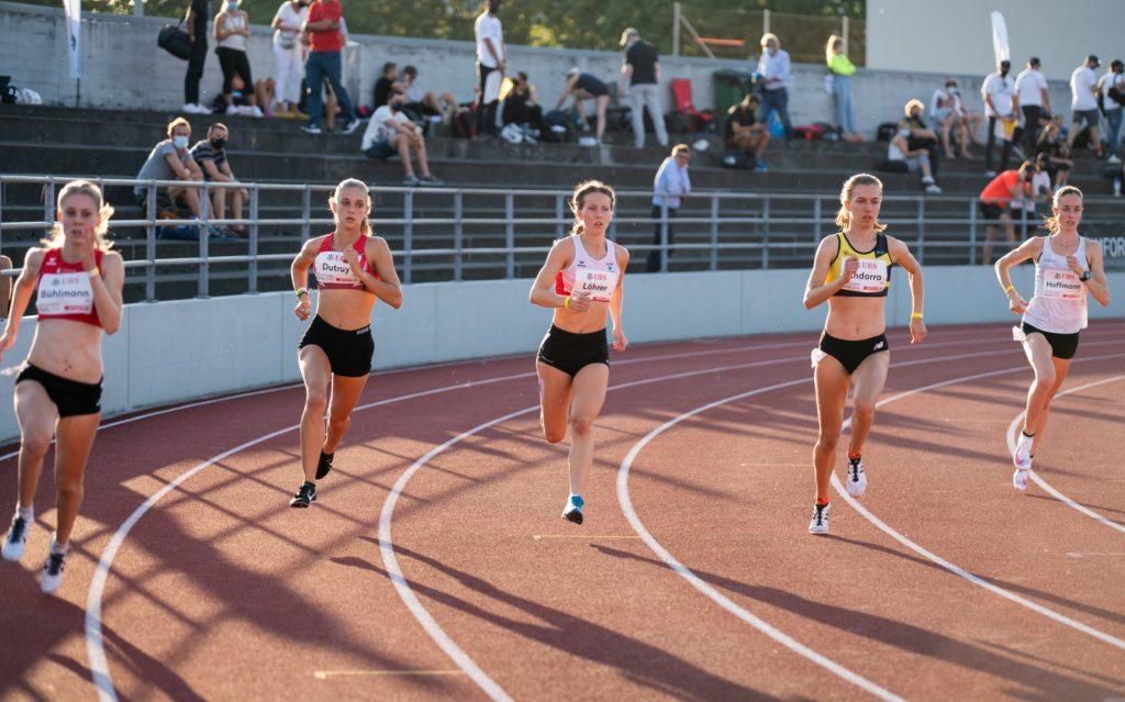 Sandra 800 m kurz nach dem Start