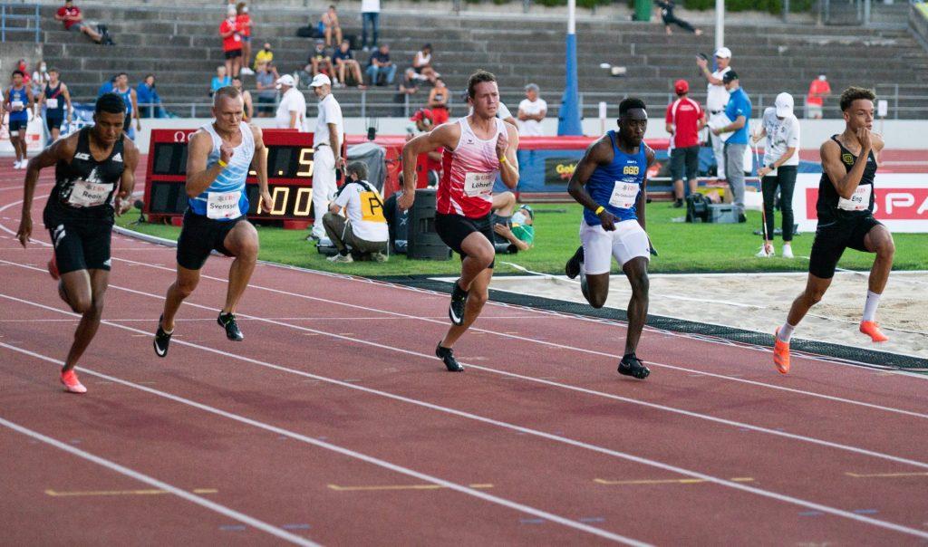 Daniel Lauf im Halbfinale 100 m